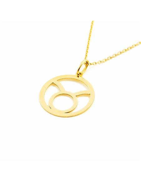 9ct Yellow Gold Taurus horoscope girl's Pendant
