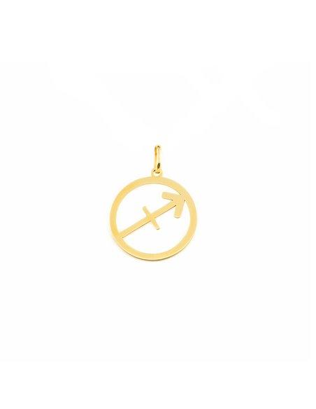 9ct Yellow Gold Sagittarius horoscope girl's Pendant