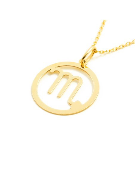 9ct Yellow Gold Scorpio horoscope girl's Pendant