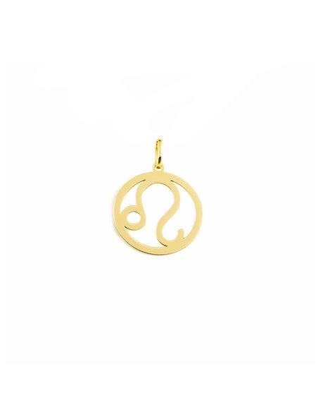 9ct Yellow Gold Leo horoscope girl's Pendant