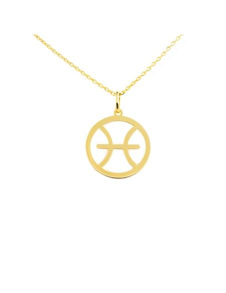 9ct Yellow Gold Pisces horoscope girl's Pendant