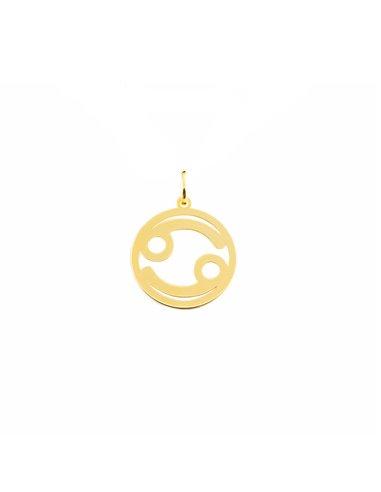 Damen & Kinder Krebs Horoskop Anhänger - Gelbgold 9 Karat (375)