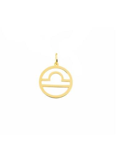 9ct Yellow Gold Libra horoscope girl's Pendant