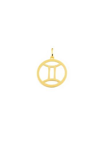 9ct Yellow Gold Gemini horoscope girl's Pendant