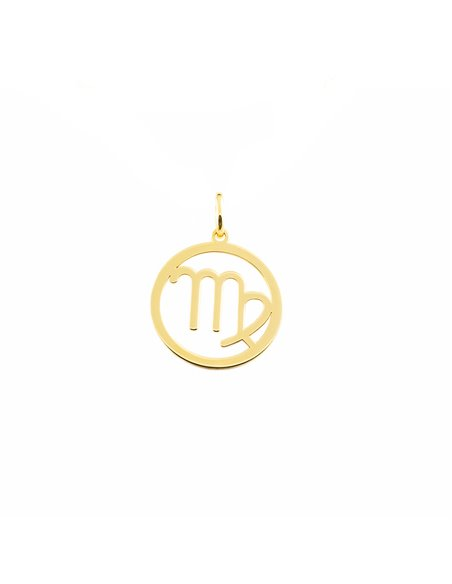 9ct Yellow Gold Virgo horoscope girl's Pendant