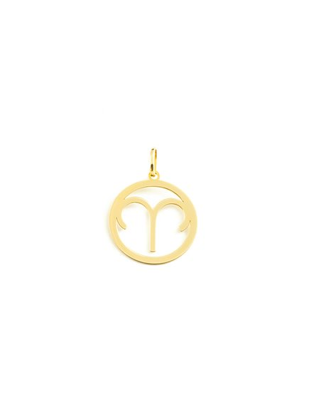 9ct Yellow Gold Aries horoscope girl's Pendant