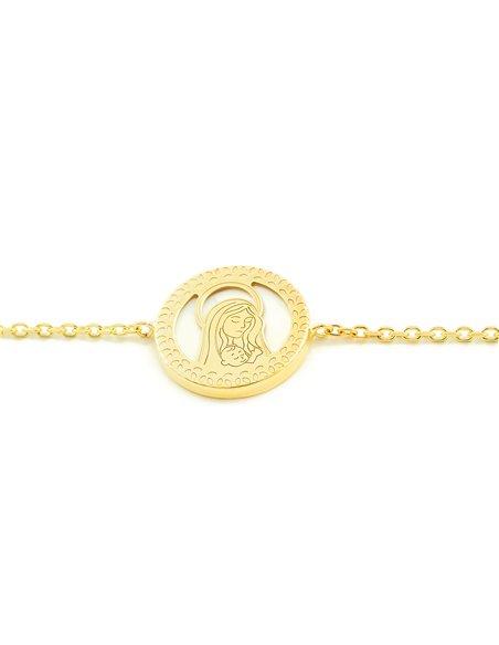 9ct Yellow Gold Virgin nacre Children's Bracelet
