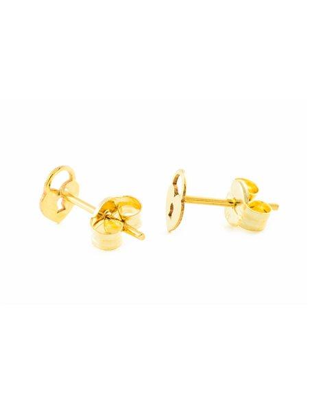9ct Yellow Gold padlock Children's Earrings