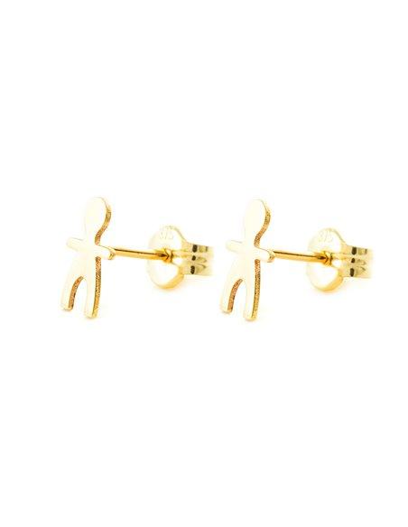 9ct Yellow Gold boy Children's Earrings