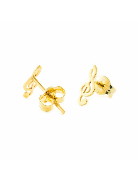 9ct Yellow Gold musical note Children's Earrings