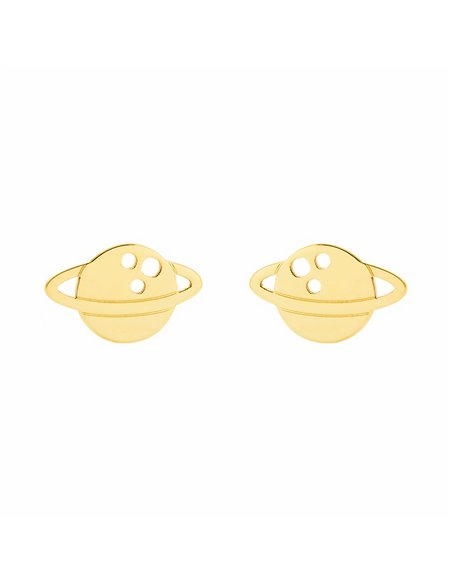 9ct Yellow Gold planet Children's Earrings