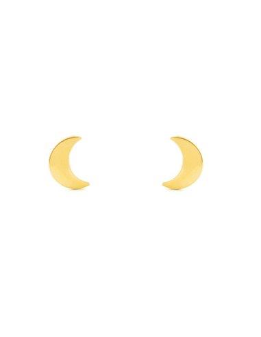 Boucles d'Oreilles Enfant demi-lune lisse Or Jaune 9 Carats