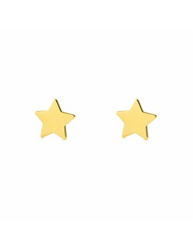 9ct Yellow Gold Star Baby Earrings