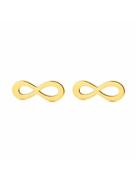 9ct Yellow Gold infinity big Children's Earrings
