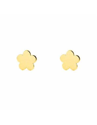 9ct Yellow Gold flower Children's Earrings