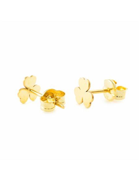 9ct Yellow Gold Trebol Children's Earrings