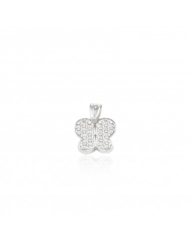 9ct White Gold butterfly Pendant