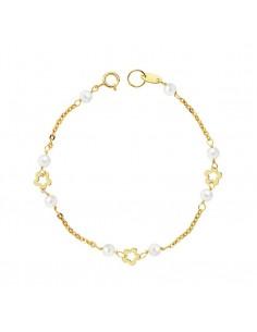 18ct Yellow Gold Baby Daisy flowers Bracelet