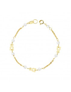 18ct Yellow Gold Baby teddy Bracelet