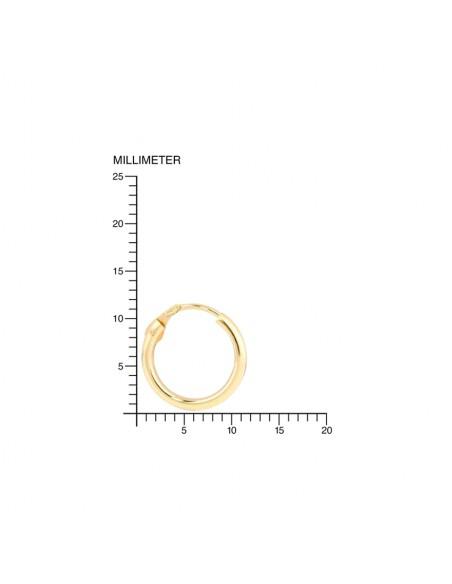9ct Yellow Gold Hoop 12x1.2 mm Earrings