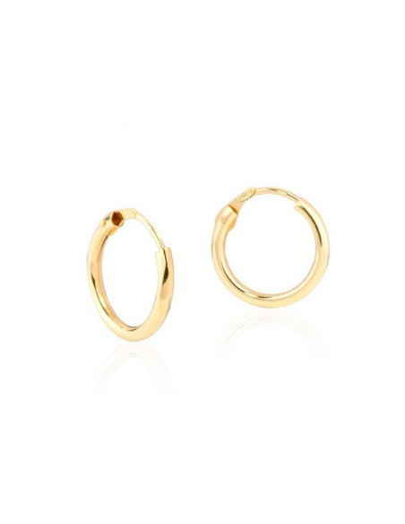 9ct Yellow Gold Hoop 14x1.2 mm Earrings