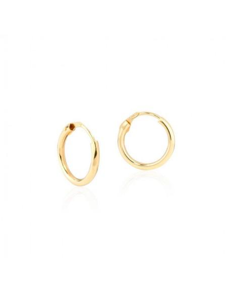 9ct Yellow Gold Hoop 12x1.5 mm Earrings