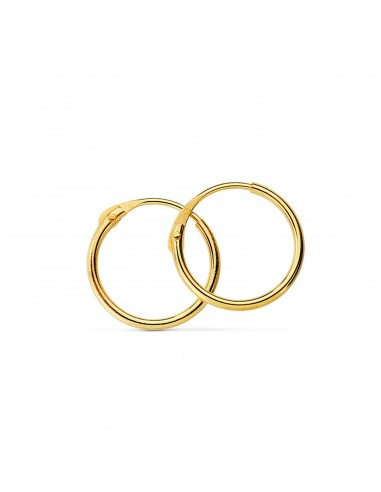 18ct Yellow Gold Hoop 14x1.5 mm Earrings