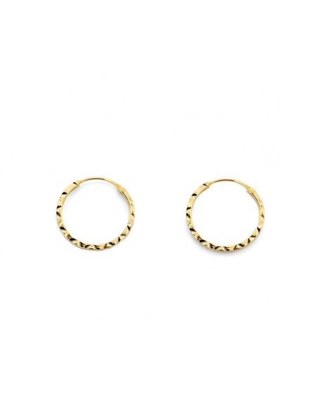 18ct Yellow Gold Hoop 12x1 mm Earrings