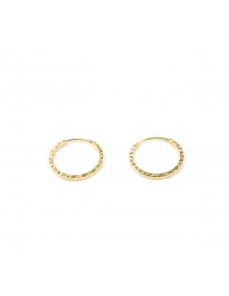9ct Yellow Gold Hoop 12x1 mm Earrings