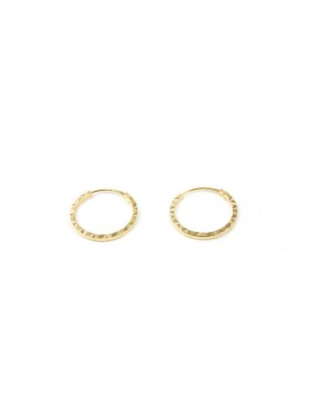 18ct Yellow Gold Hoop 10x1 mm Earrings