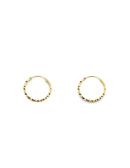 9ct Yellow Gold Hoop 10x1 mm Earrings