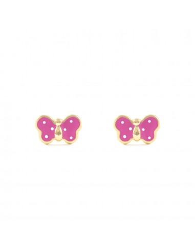 18ct Yellow Gold butterfly Children's Earrings
