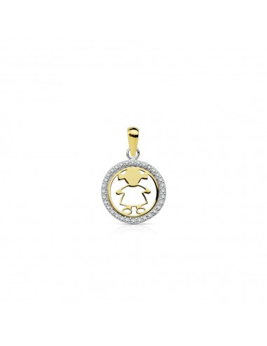 18ct 2 Colour Gold Children's Pendant