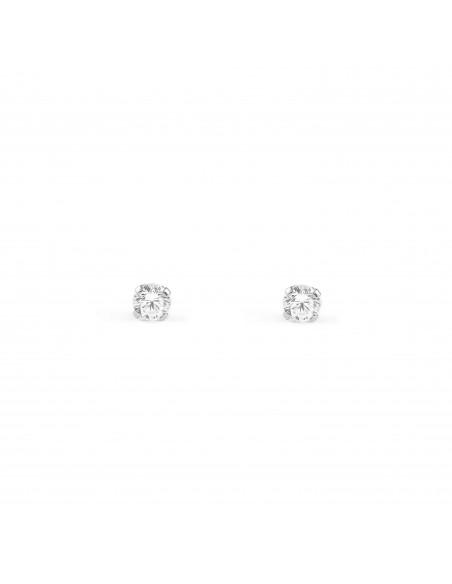18ct White Gold Children's Earrings