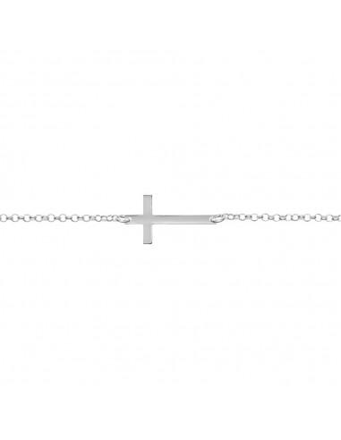 Collier croix horizontale en Argent 925