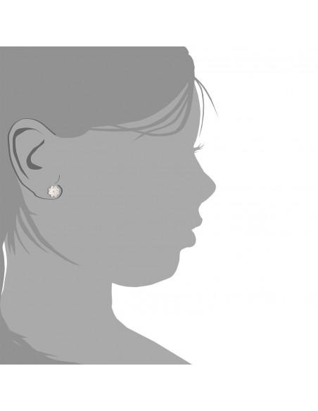9ct Yellow Gold nacar flower Children's Earrings