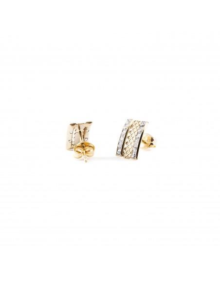 9ct Yellow Children's zirconia Earrings