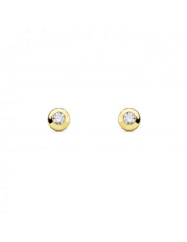 18ct Yellow Gold round Children's Earrings