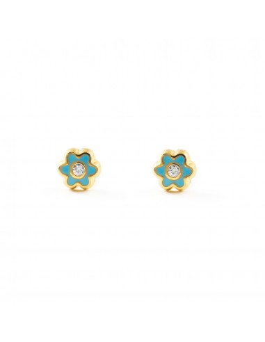 18ct Yellow Gold butterfly Children's Earrings