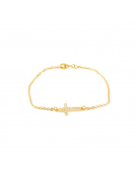 18ct Yellow Gold cross Bracelet