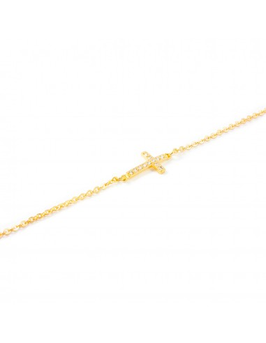 18ct Yellow Gold cross necklace