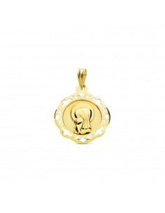 18ct Yellow Gold virgin medal