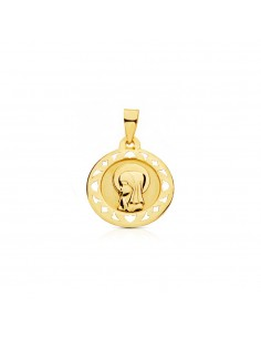 9ct Yellow Gold virgin medal