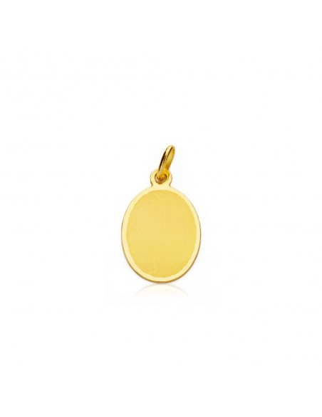 9ct Yellow Gold angel medal