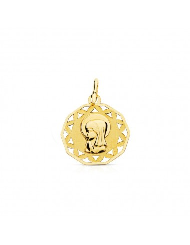 9ct Yellow Gold virgin medal