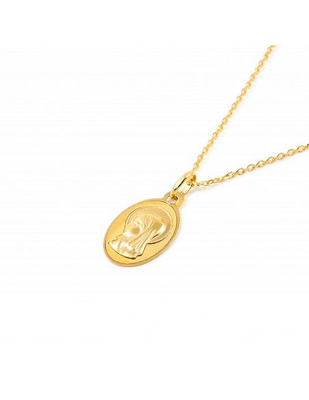 18ct Yellow Gold virgin medal