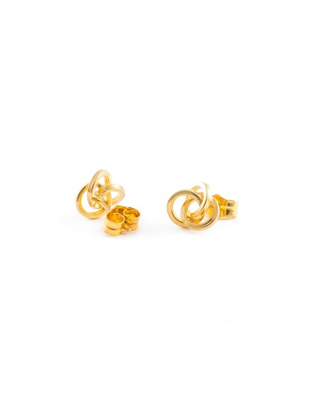 18ct Yellow Gold round Earrings