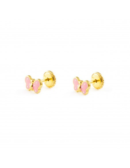 9ct Yellow Gold butterfly Children's Earrings