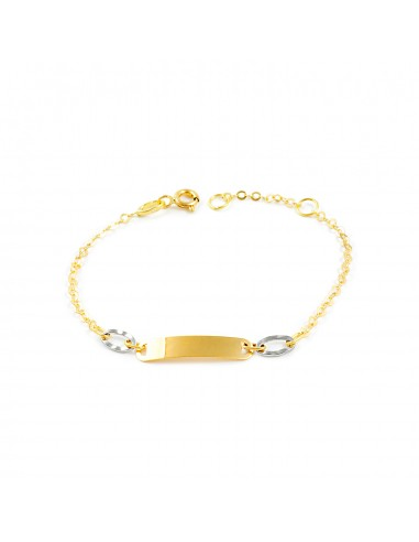 18ct two color Gold Baby Bangle Bracelet