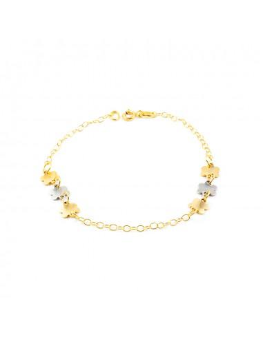 18ct 2 Colour Gold Baby Bracelet